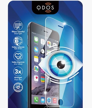QDOS OPTIGUARD Glass - glass screen protector with blue shield detail 3