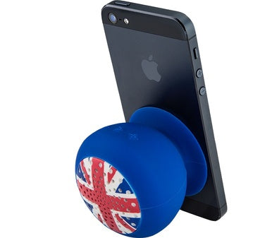 QDOS Q-BOPZ Iconic Bluetooth speaker union jack with suction-cup