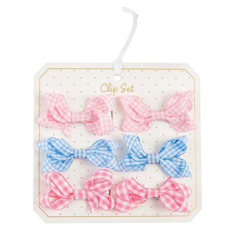 Gingham Clip Bitty Bows