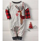 Boys Buffalo Check Reindeer One Piece
