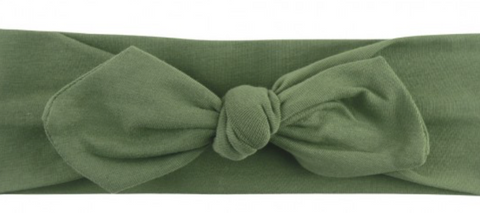Moss Knotted Bow Headband
