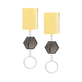 Stevie Earrings - Pyrite