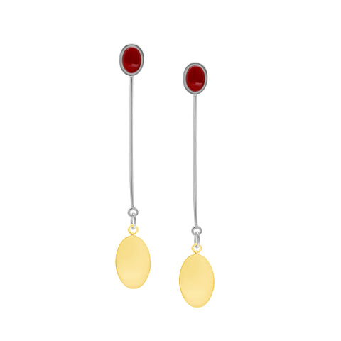 ARI EARRINGS - CARNELIAN