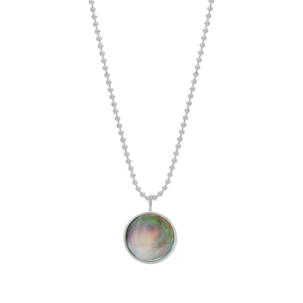 EVERETT NECKLACE - BLACK MOTHER OF PEARL