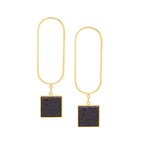 ZOE EARRINGS - LAVA