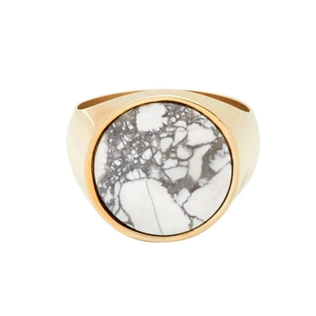 Everett Ring - White Howlite