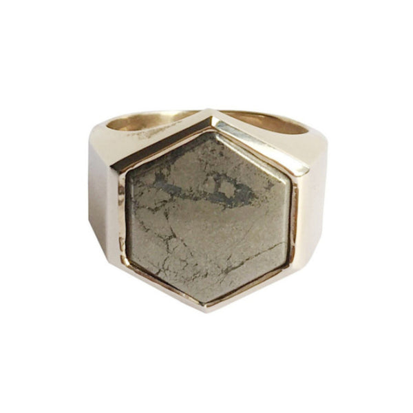 BECKHAM RING - PYRITE