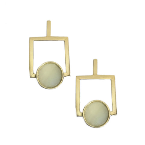 ARDEN EARRINGS - WHITE MOTHER OF PEARL