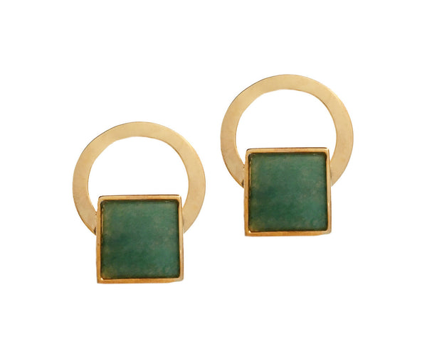 CARLYLE EARRINGS - AVENTURINE