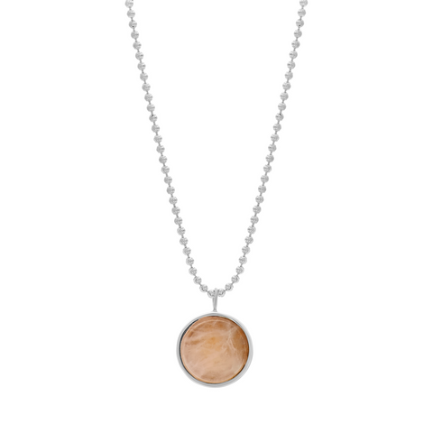 EVERETT NECKLACE - ROSE QUARTZ