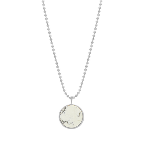 EVERETT NECKLACE - WHITE HOWLITE