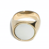 EVERETT RING - WHITE MOTHER OF PEARL