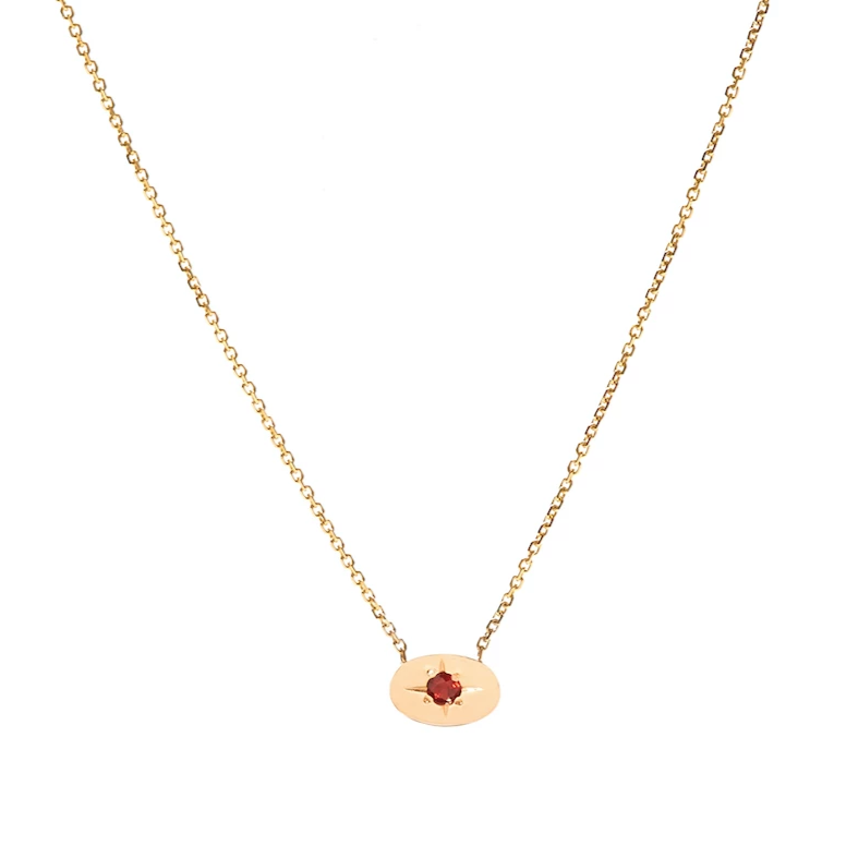 Nara Necklace - Garnet