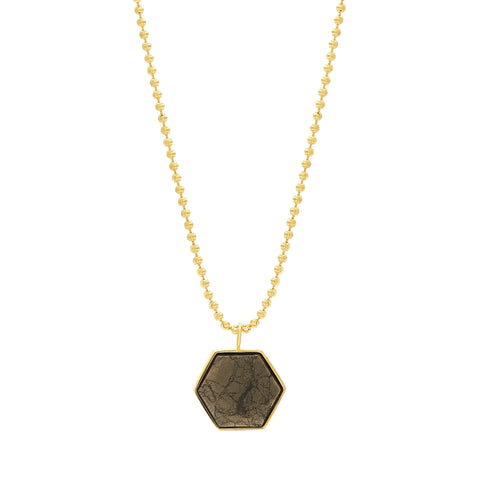 BECKHAM NECKLACE - PYRITE
