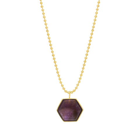Beckham Necklace - Amethyst