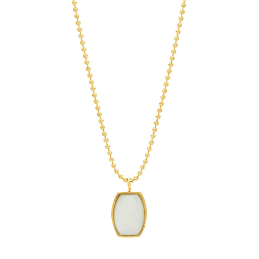 Archie Necklace - White Mother of Pearl