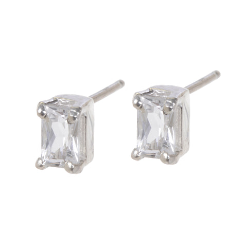 KENNEDY WHITE TOPAZ EARRINGS