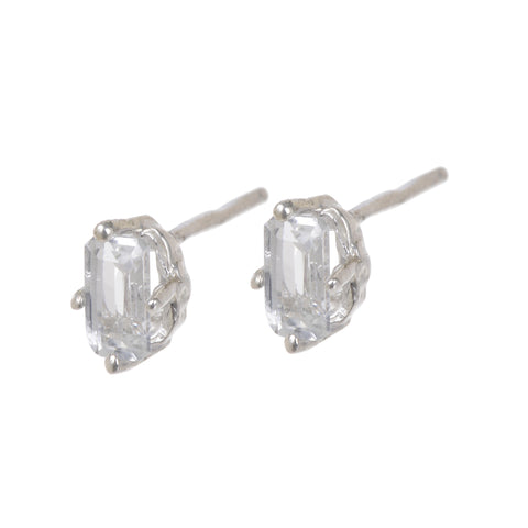 Jordan White Topaz Earrings