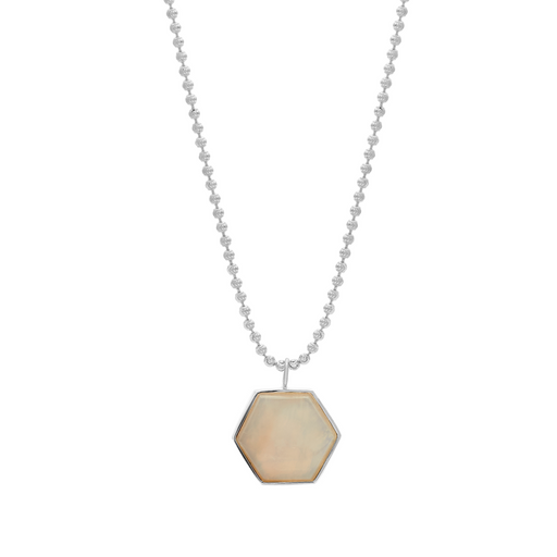 Beckham Necklace - White Agate