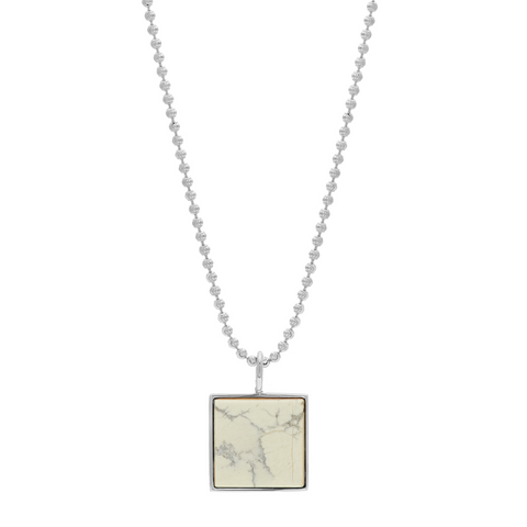 Samuel Necklace - White Howlite