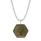 BECKHAM NECKLACE - HEXAGON PYRITE