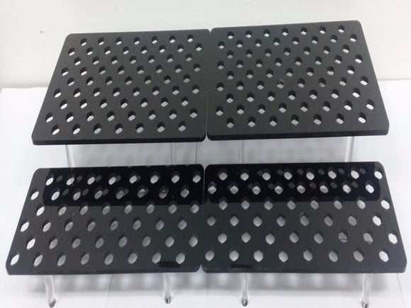 REF #: FR101 2 Tier Staggered Frag Racks 4 Racks Per Set (8 Sizes)