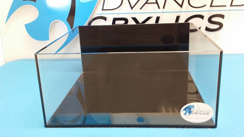 REF#: FT113 20x20x8 Basic Rimless Frag Tank with Black Bottom and Back with No Overflow Box or Holes (8 Various Sizes)
