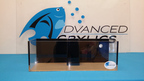 "REF#: FT120 24x8x8  1/2"" Thick Rimless Frag Tank (7 Various Sizes)"