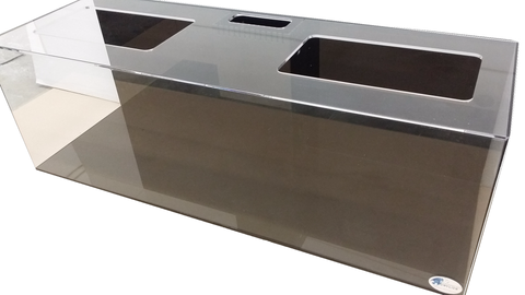 REF#: T124 - Display Tank (aquarium) w/ black back and black bottom (12 sizes available)