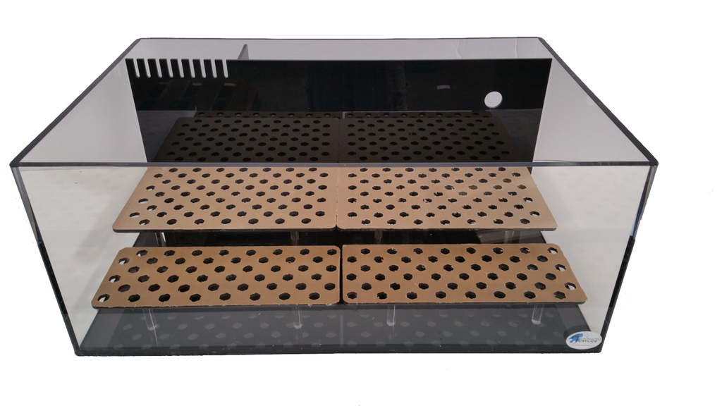 "REF#: FT123 30x20x12 - 40x20x12 - 1/2"" Thick Custom AIO Frag tank rimless with staggered Racks (2 Tier) 3 Sizes"