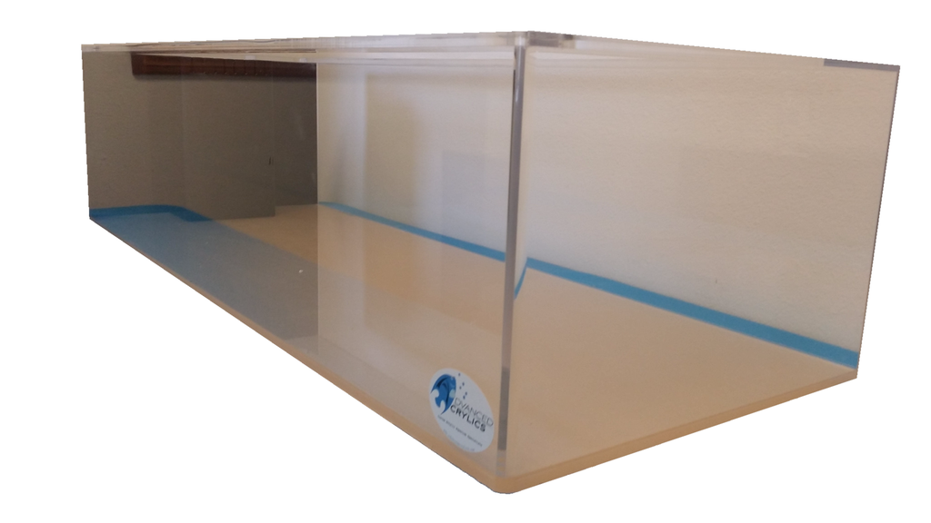 REF#: T125 - Peninsula Style Display Tank w/ Eurobrace (6 sizes available)