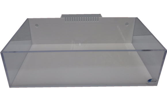 REF#: FT135 - White Rimless Frag Tank w/ External Overflow (4 Sizes Available)