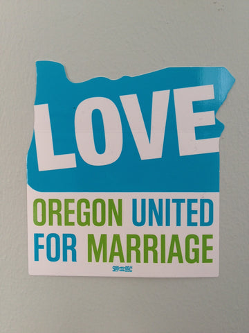 Oregon United for Marriage Bumper Sticker