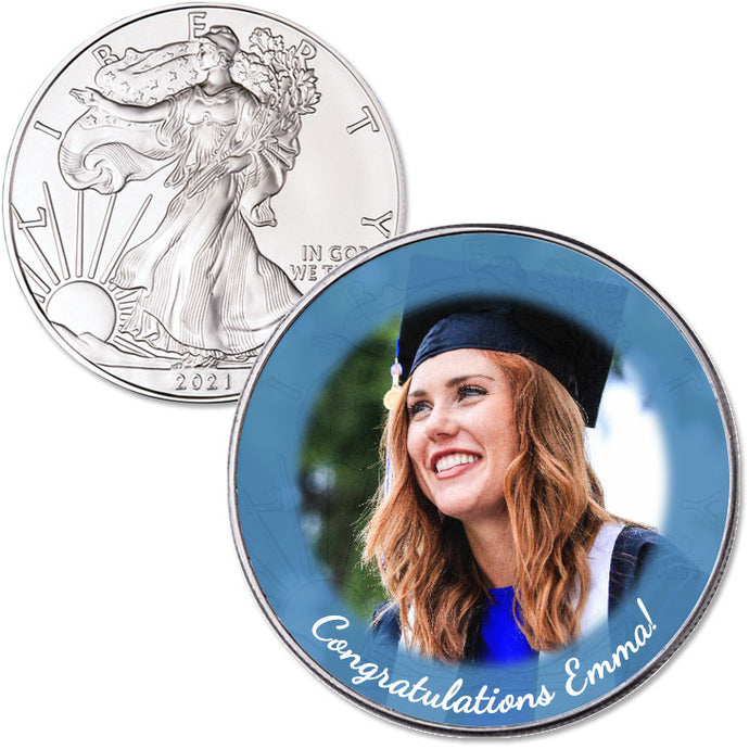 Personalized 2021 American Silver Eagle