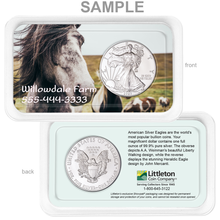 Load image into Gallery viewer, Personalized 2021 Silver American Eagle Showpak