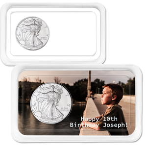 Personalized 2011 Silver American Eagle Showpak