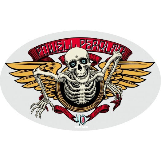 Powell Peralta 40th Anniversary Winged Ripper Sticker