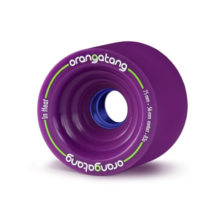 75mm 83a  Orangatang Wheels InHeat Purple