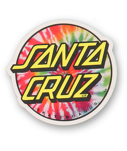 "Santa Cruz Tie Dye Dot 3"" Sticker"