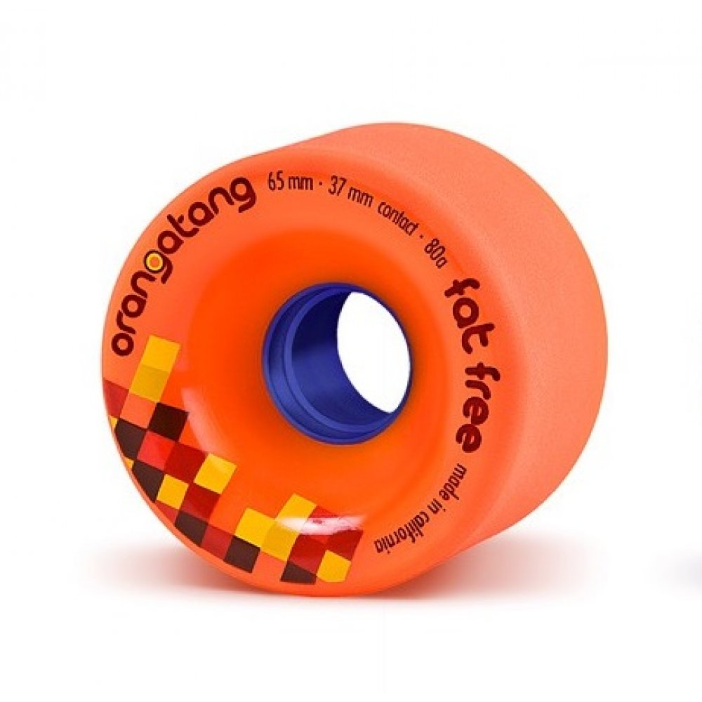 65mm 80a Orangatang Wheels Fat Free Orange