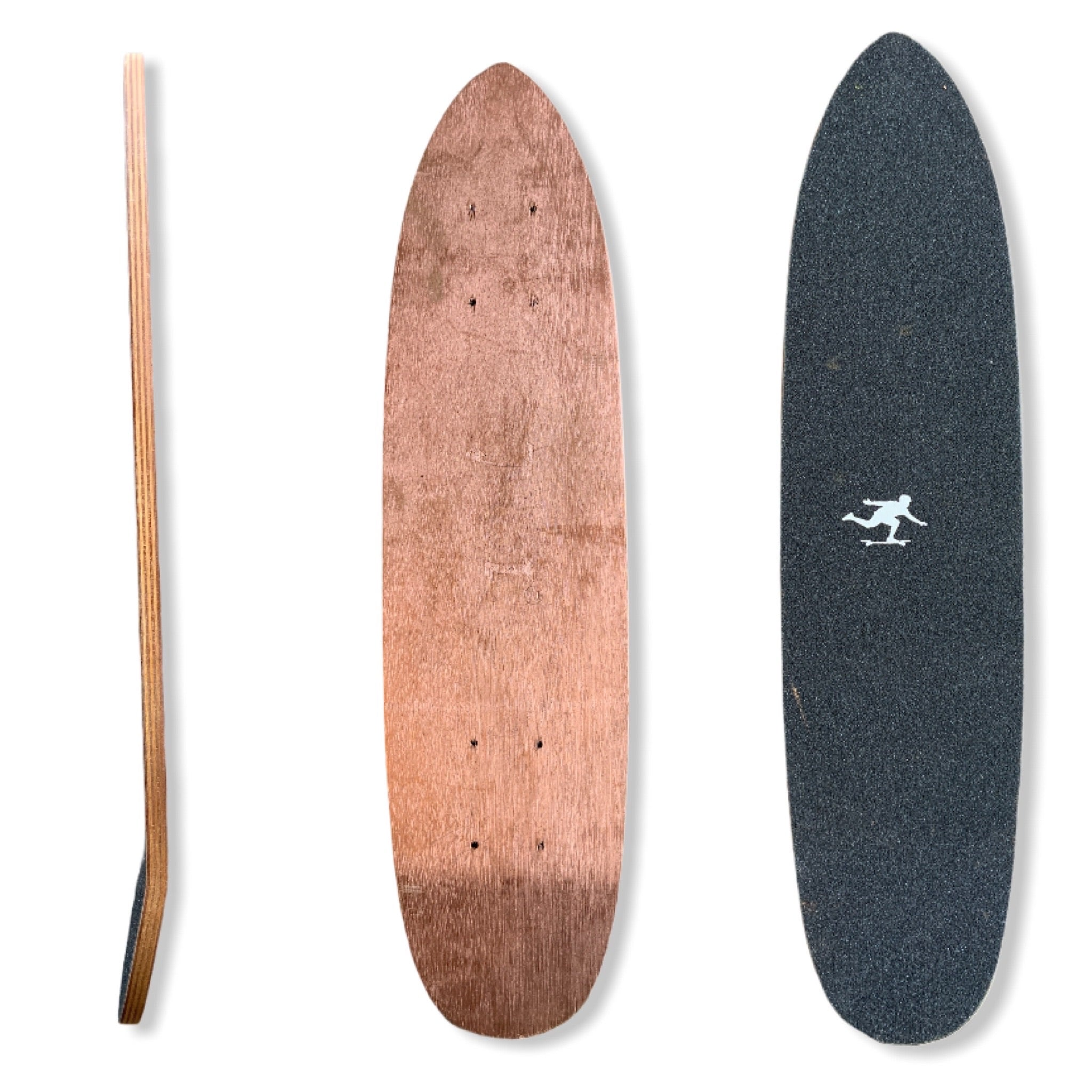 "25"" Woodgrain Mini Cruiser Deck"