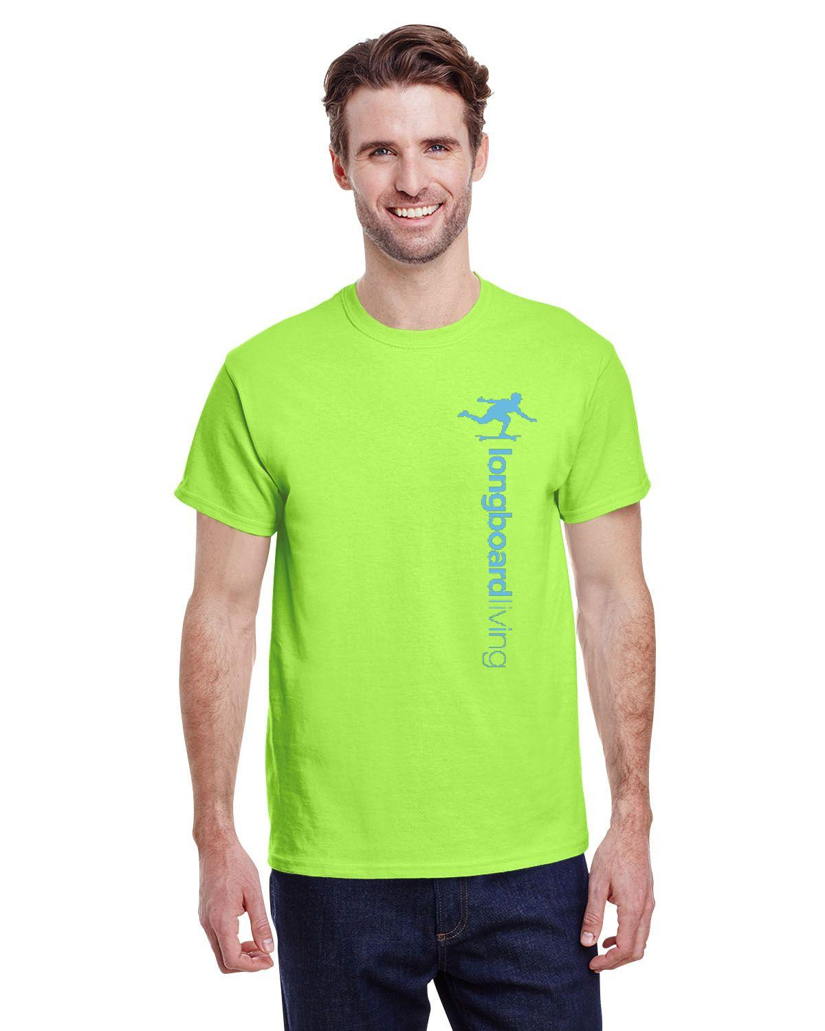 Longboard Living Vertical Logo Shirt - Bright Colour Pack