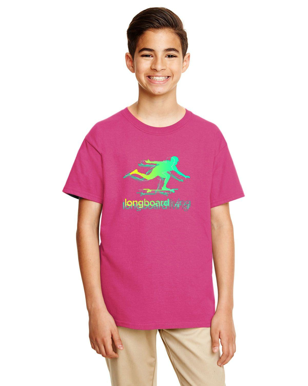 Longboard Living Stencil Shirt - YOUTH