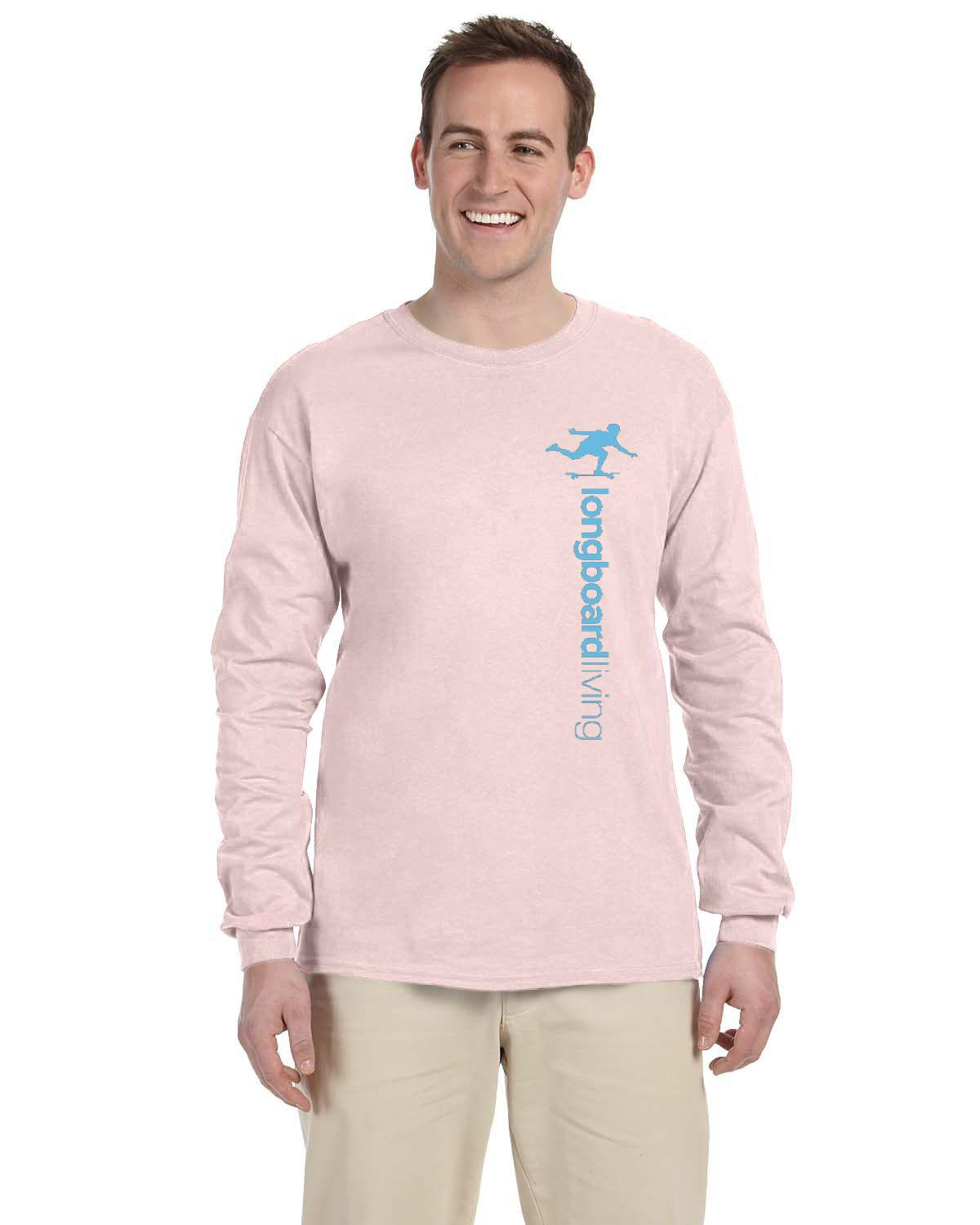 Longboard Living Long Sleeve Shirt - Vertical Blue Print