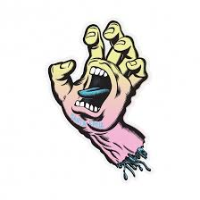 "Santa Cruz Screaming Hand Pastel 3"" Sticker"