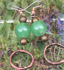 Medieval girdle ring earrings