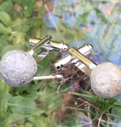 English Civil war pistol shot cufflinks