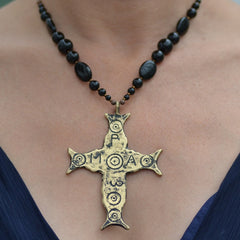 Medieval Byzantine cross necklace