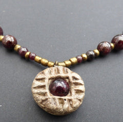 Saxon spindle whorl necklace