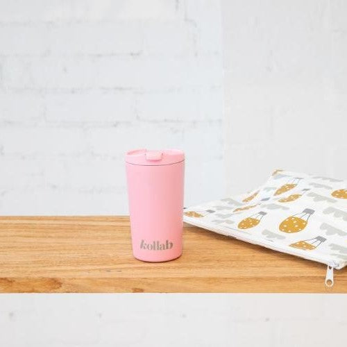Reusable Coffee Cup Pastel Pink